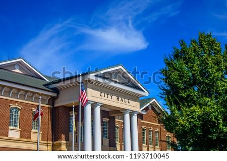 American City Hall Under Blue Sky #1193710045