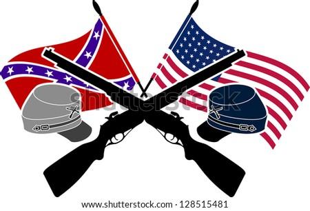 American Civil War. stencil. second variant. raster variant