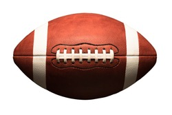 American college high school junior league football isolated on white background