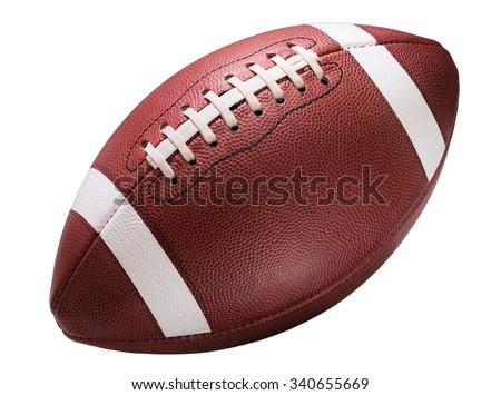 Shutterstock American college high school junior striped football isolated on white background diagonal in frame without shadow