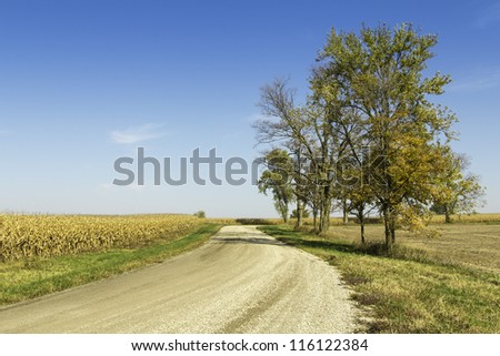 American countryside gravel road