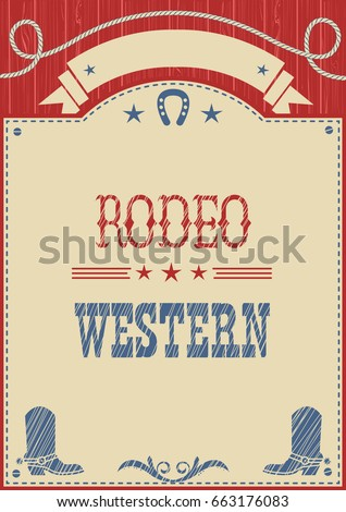 american cowboy rodeo poster...