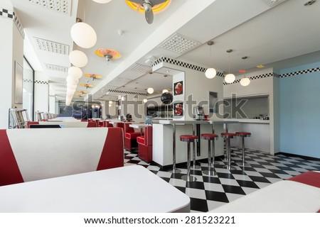 american diner restaurant Stock photo ©