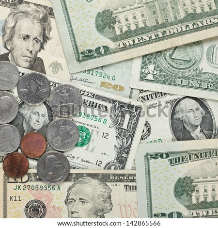 American dollar money background for business