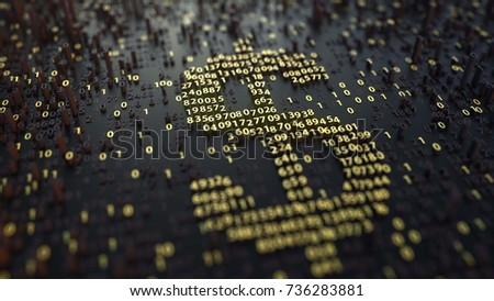 american dollar usd symbol made ...