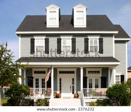american dream home stock photo 2376232 shutterstock. Black Bedroom Furniture Sets. Home Design Ideas