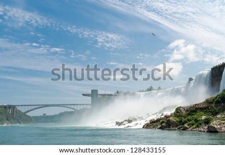 American Falls and Bridge to Canada