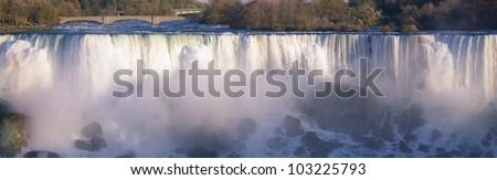 American Falls viewed from Canada, Niagara Falls, New York