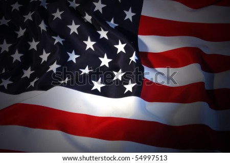 American Flag as background for Clip-Art