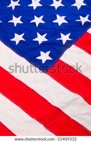 American flag - close up. Great image for Independent Day brochures and advertising.
