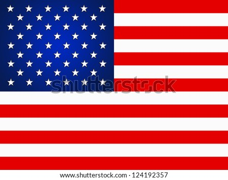 American Flag for Independence Day. Illustration of the USA flag