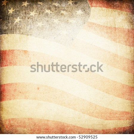 American flag grunge background.