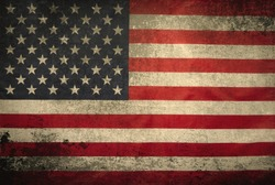 American flag grunge background for your design.