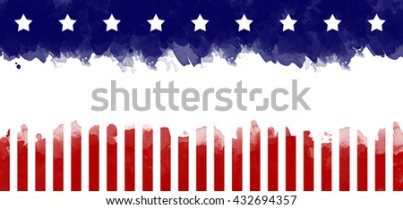 American flag grunge greeting card background Stock photo ©
