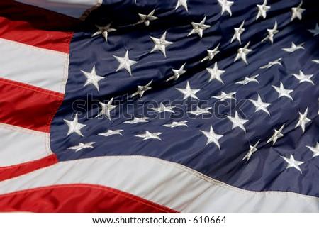 American Flag in breeze