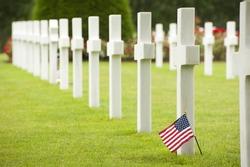 american flag in memorial