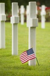 american Flag in Omaha memorial
