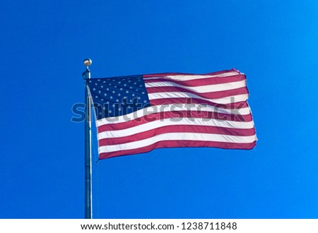 American Flag. Old Glory. Patriot.  Patriotism. America. Stars and Stripes. #1238711848