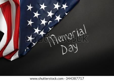 American flag on dark background #344387717