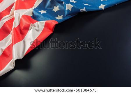 American flag on dark background #501384673
