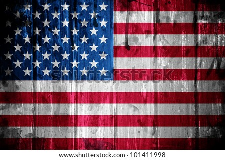 American flag overlaid with grunge texture