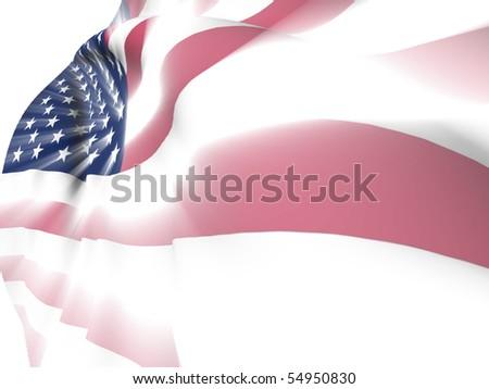 American flag shine