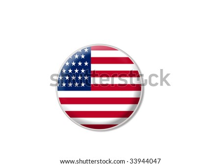 american flag sign - stock photo