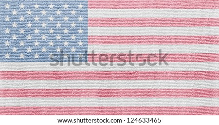 American flag towel texture as a background