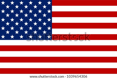 American Flag. Vector image of American Flag. American Flag background. American Flag illustration. United States of America. USA. The Star-Spangled Banner with Stars and Stripes. USA. United States. #1039654306