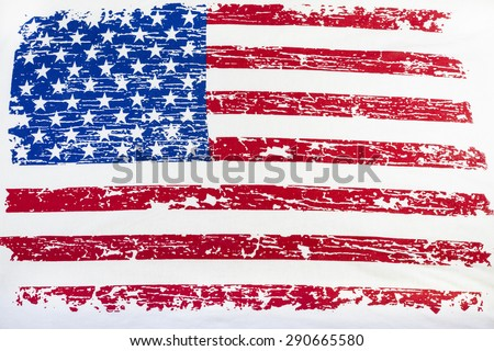 American flag vintage background.
