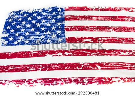 American flag vintage background.