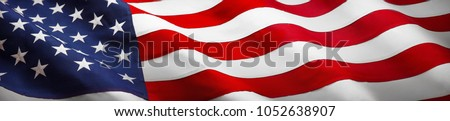American Flag Wave Close Up for Memorial Day or 4th of July #1052638907