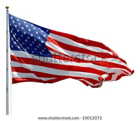 american flag waving. stock photo : American Flag
