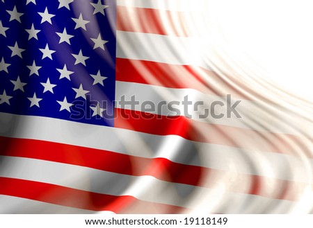 american flag waving in wind. stock photo : American flag waving in the wind with some folds