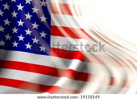 american flag waving in wind. stock photo : American flag waving in the wind with some folds