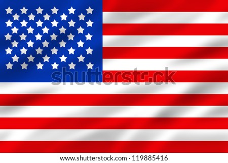 american flag with some folds in it