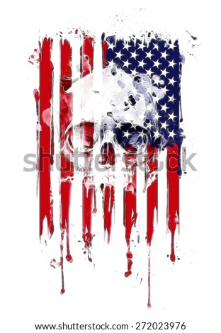 american flag with some grunge