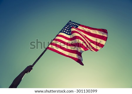 american flag with stars and...