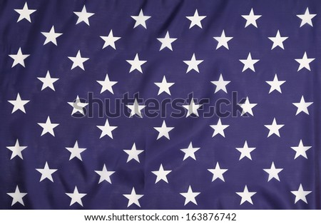 American flag with white stars. Whole background.