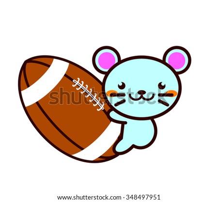 American football and Animal Series