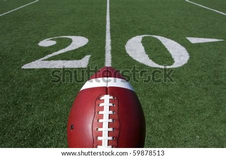 American Football and the Twenty Yard Line