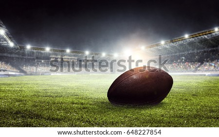 American football arena. Mixed media #648227854