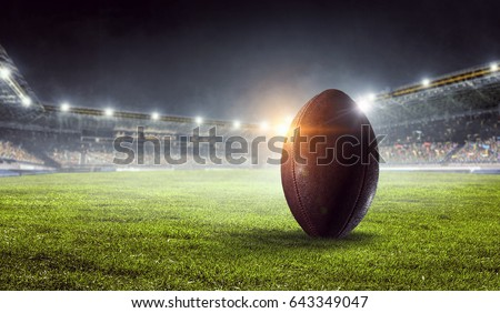 American football arena. Mixed media . Mixed media #643349047