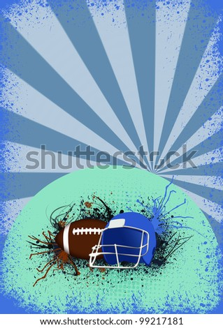 American football background with space (poster, web, leaflet, magazine)