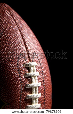 American football, black background, copy space
