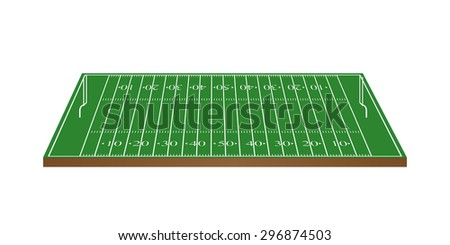 American Football Field 3D with Goalposts