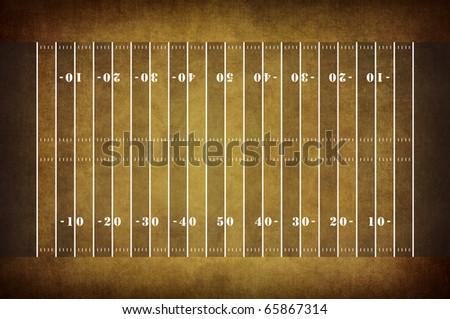 American football field pattern on vintage background