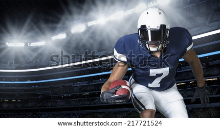 American Football Game Action Photo
