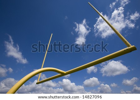 American football goalpost in the Midwest.