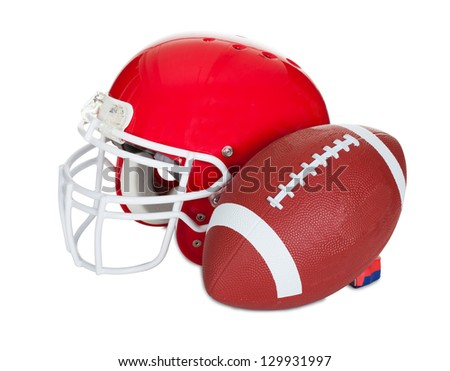 American football helmet. Isolated on white background